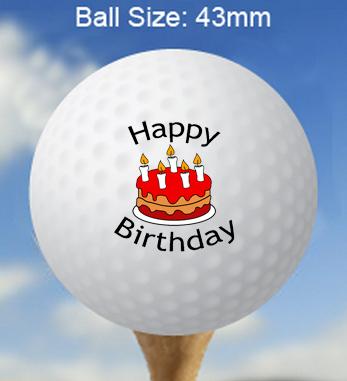 Printed Birthday Golf Balls Personalised Birthday Golf Balls Happy Birthday Golf Balls