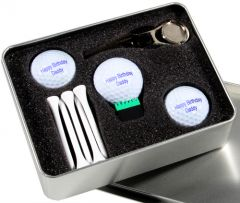 Personalised Two Ball Golf Gift Set with USB Golf Ball | Best4Balls