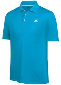 Adidas ClimaLite Solid Polo Golf Shirt - Blue
