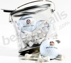 Gift Bucket Tin With Personalised Golf Balls & Tees | Best4Balls