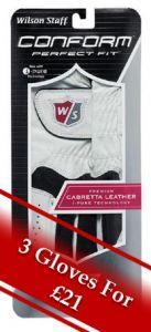 Wilson Conform Golf Glove - White