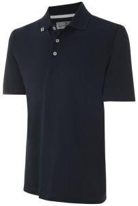 Ashworth Solid Polo Golf Shirt - Navy
