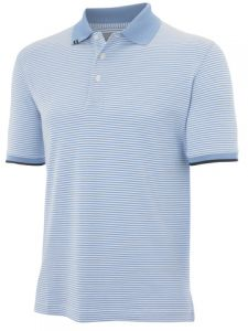 Ashworth Stripe Polo Golf Shirt - Blue