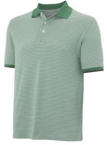 Ashworth Stripe Polo Golf Shirt - Green Medium