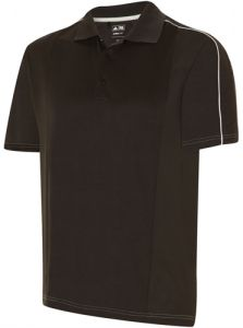 Adidas Black Climacool Debossed Polo Shirt | Best4Balls