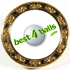 Logo Printed Golf Ball Marker - Gold | Best4Balls