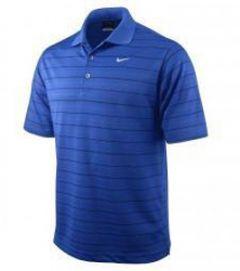 Nike Dri-Fit Tech Stripe Shirt - Blue/Grey size Small