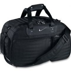 Nike Departure Small Duffle Bag (Black/Silver) | Best4Balls