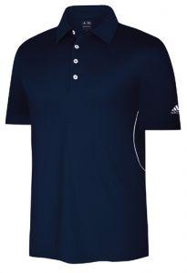 Adidas ClimaMax Textured 3-Stripe Golf Shirt - Navy