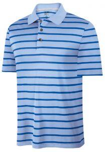 Adidas ClimaCool Stripe Golf Shirt - Blue/Dark Blue