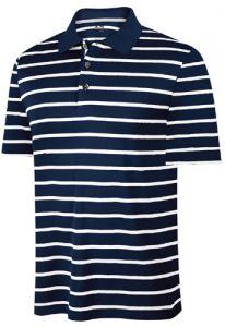Adidas ClimaCool Stripe Golf Shirt - Navy/White