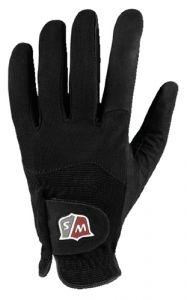 Wilson Rain Moisture Grip Golf Gloves - Black (Pair)