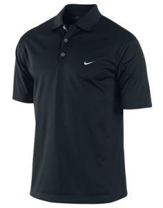 Nike UV Stretch Tech Solid Golf Polo Shirt in Black | Best4Balls