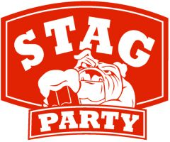 Big Red Dog with a Pint Stag Party Personalised Golf Balls | Best4Balls