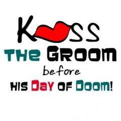 Kiss the Groom Before His Day Of Doom - Funny Stag Do Golf Balls | Best4Balls