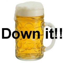 Down It!  Big Pint Funny Stag Do Golf Balls | Best4Balls