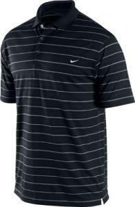 Nike Dri-Fit Tech Stripe Polo Golf Shirt - Black