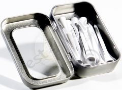 Wooden Tees Gift Tin White | Best4Balls