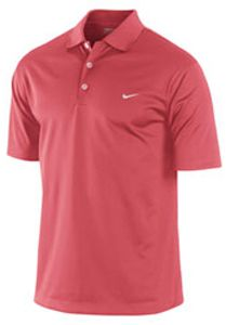 Nike Dri Fit UV Stretch Tech Solid Polo Shirt - Red size X-Large