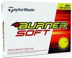 Burner Soft Yellow TaylorMade Logo Golf Ball | Best4Balls