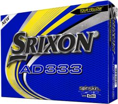 New AD333 Tour Yellow personalised golf balls from Best4Balls