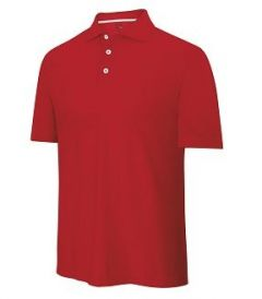 Adidas ClimaCool Textured Golf Shirt - Red