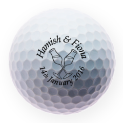 Anniversary Toast Printed Golf Balls | Best4Balls