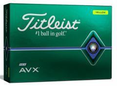 NEW AVX Yellow Titleist Personalised Golf Balls | Best4Balls