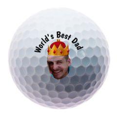 World's Best Dad Personalised Golf Balls | Best4Balls