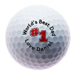 Personalised No 1 Dad golf balls | Best4Balls