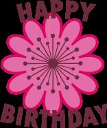 Happy Birthday Pink Flower Cute Birthday Golf Ball | Best4Balls