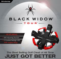 Black Widow Tour Golf Studs - Metal
