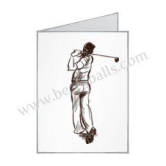 Golf Greeting Card - Male Golfer | Best4Balls