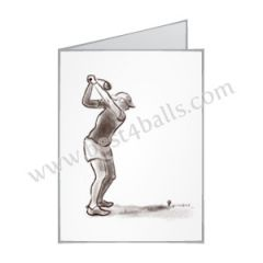 Mothers Day Lady Golfer Greeting Card