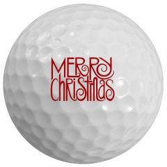 Festive Merry Christmas Holiday Printed Golf Ball | Best4Balls