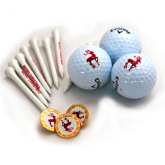 Tube of 3 Christmas Golf Balls, Tees, and Ball Markers  | Best4Balls