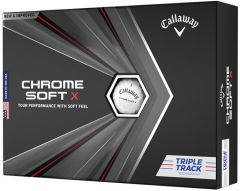 Personalised Callaway Chrome Soft X Triple Track golf balls | Best4Balls