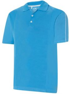 Adidas ClimaCool Debossed 2 Colour Polo in Coast | Best4Balls