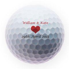 Wedding Heart Golf Ball with Names | Best4Balls