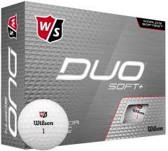Wilson Duo Soft+ Logo Printed Golf Balls | Best4Balls