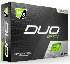 Wilson Duo Optix Green Logo Printed Golf Balls | Best4Balls