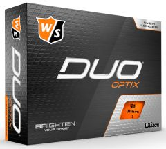 Wilson Duo Optix Orange Logo Printed Golf Balls  | Best4Balls