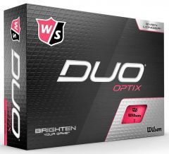 Wilson Duo Optix Pink personalised golf balls | Best4Balls