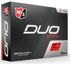 Wilson Duo Optix Red personalised golf balls | Best4Balls