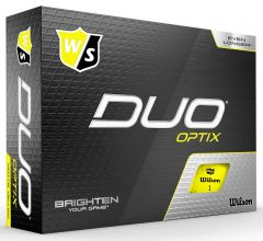 Wilson Duo Soft Optix yellow Logo Printed Golf Balls | Best4Balls