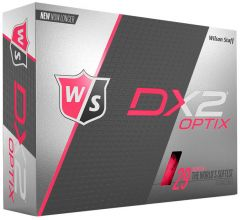 Personalised Wilson Golf Balls DX2 Soft Optix Pink | Best4Balls