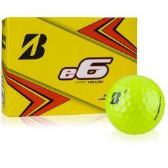 E6 Yellow Bridgestone Golf Balls Personalised | Best4balls