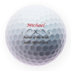 Father of the Bride Golf Ball Table Setting | Best4Balls