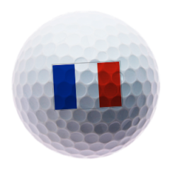 French Flag Printed Golf Balls | Best4Balls