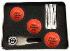 Coloured Three Ball Personalised Golf Gift Set | Best4Balls